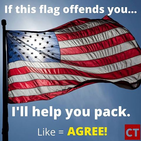 american flag offends you like and share