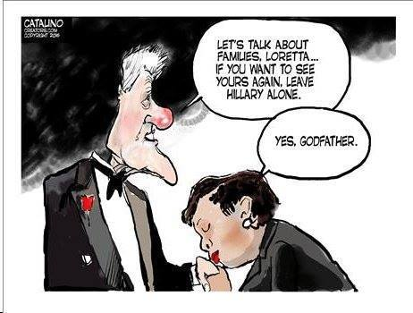 bill clinton loretta lynch political cartoon