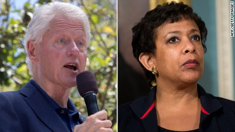 bill clinton loretta lynch