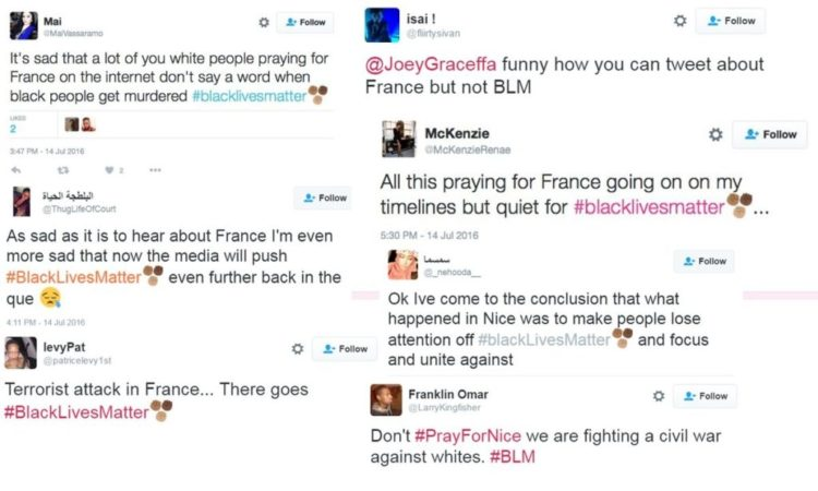 black lives matter mad about france