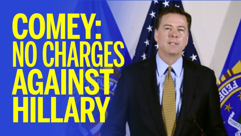 james comey no charges against hillary clinton