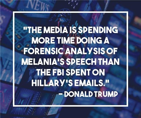 melania trump speech hillary clinton emails fbi