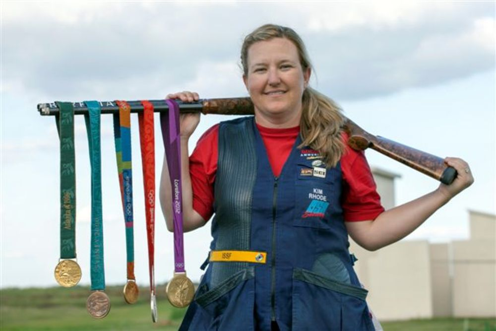American Shooter Speaks on Gun Control kim rhode gold medal