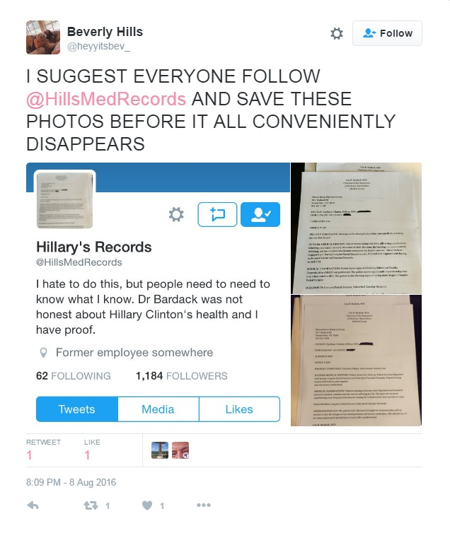 Man Who Leaked Hillary Clinton's Medical Records Found Dead
