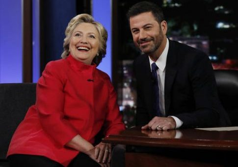 Hillary Clinton Brings Bad News to Jimmy Kimmel
