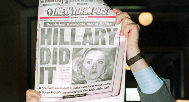 Hillary Destroyed By Her Hometown Paper