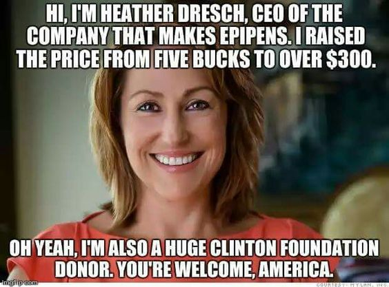 Mylan Donates to Clinton Foundation