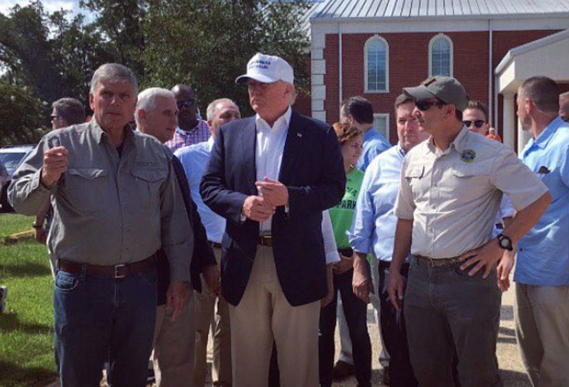 Trump Visits Louisiana Church and Leaves an Incredible Gift