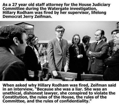 hillary clinton lies watergate