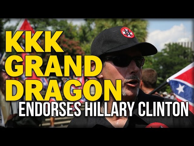 kkk grand dragon will quigg endorses hillary for president