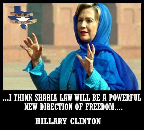 Hillary Supporters Endorse Sharia Law in America