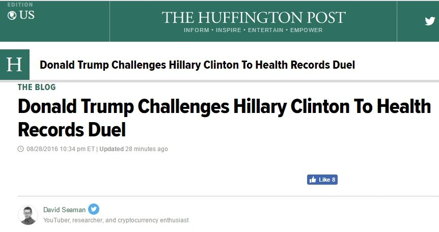 hillary's health is horrific