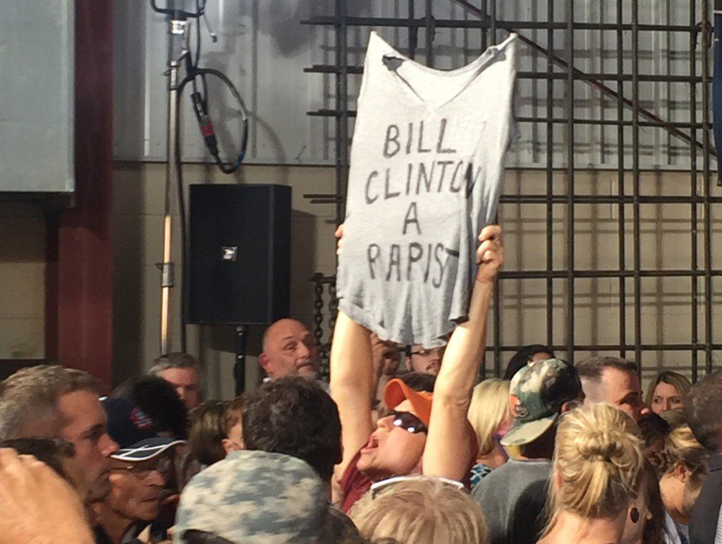 bill clinton is a rapist canton ohio