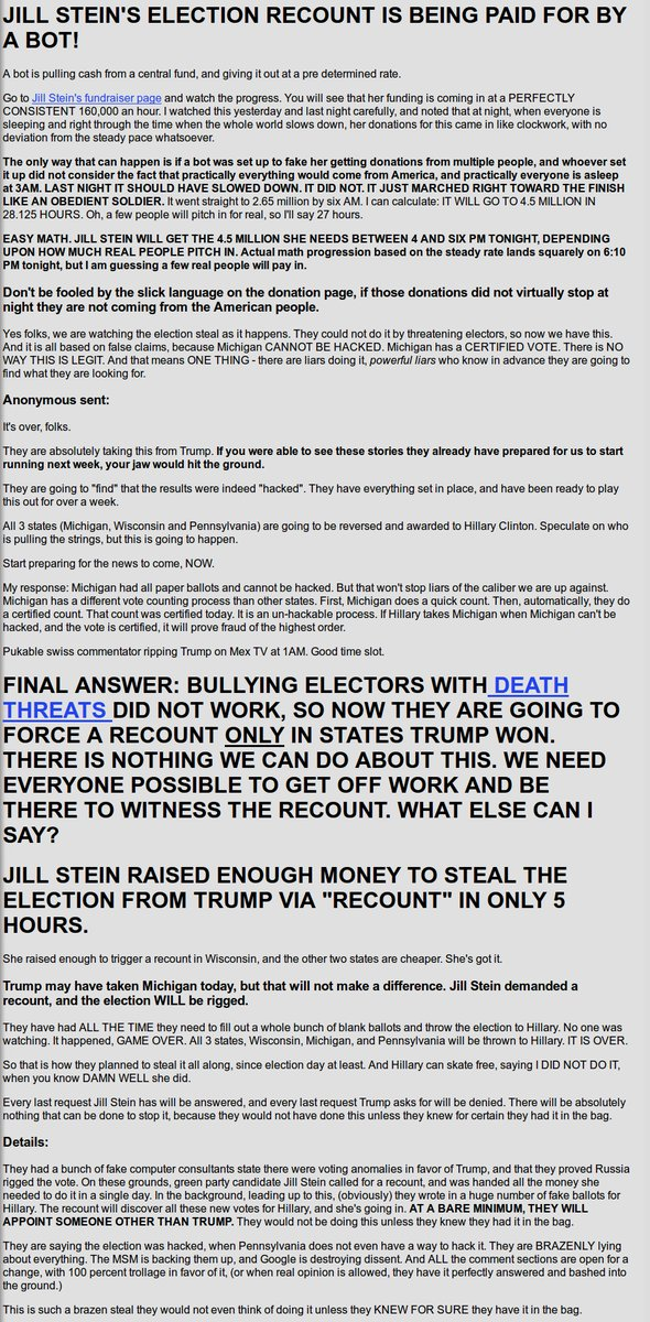 Hillary is attempting to steal the election