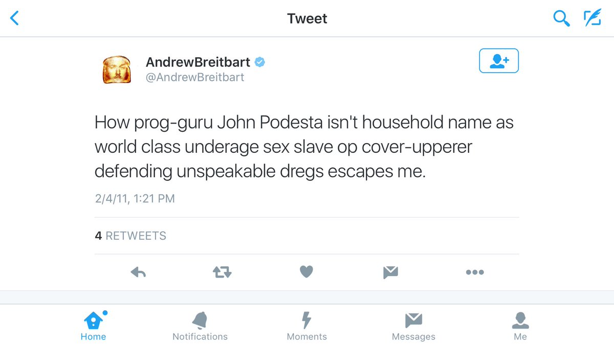 Breitbart Accused Podesta of #PizzaGate in 2011