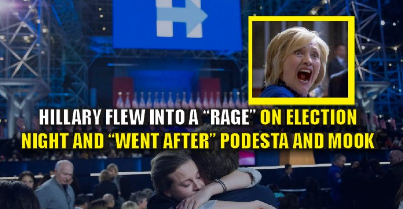 Hillary Went into a Violent Rage After Losing Election