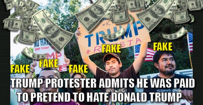 Paid Anti-Trump Protester Speaks Out