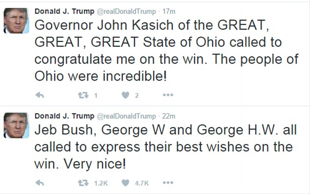 john kasich george bush donald trump