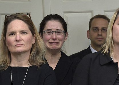Pictures of Obama Staffers Crying