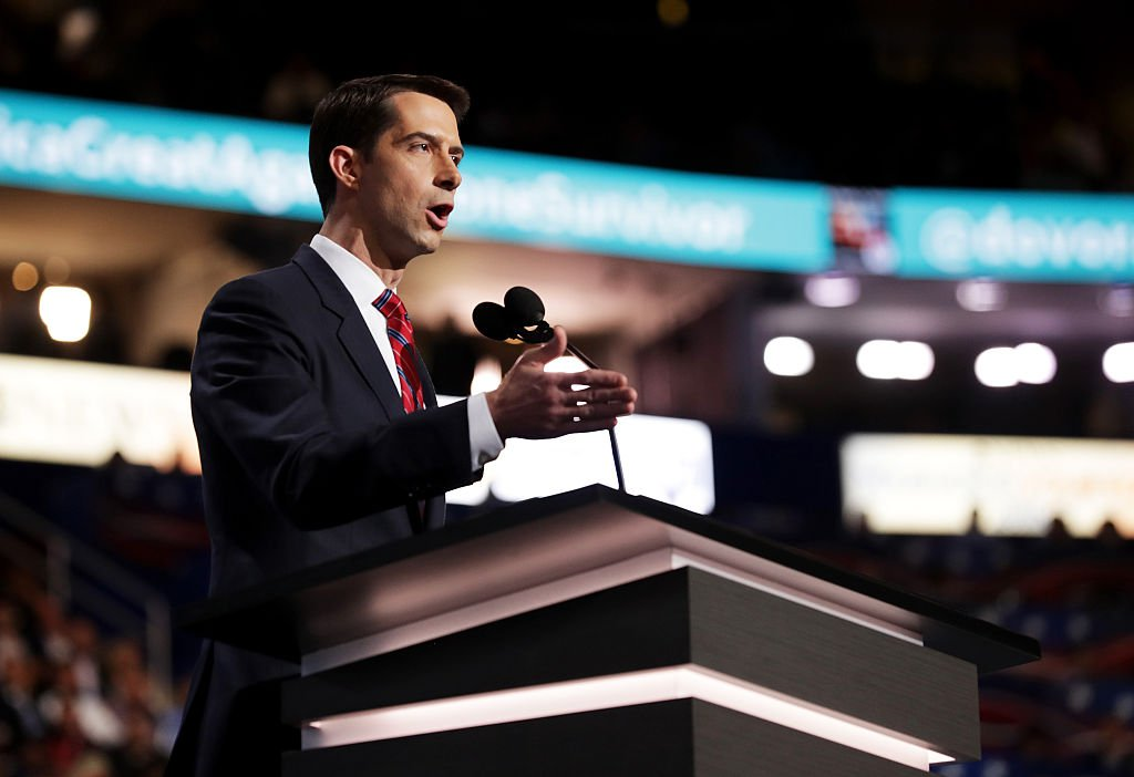 sen. tom cotton nukes the clinton foundation