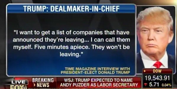 Trump Requests a List of All Companies Leaving