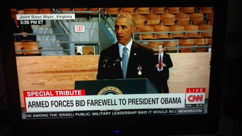 Loads of Empty Seats at Obama's Farewell Speech to the Military