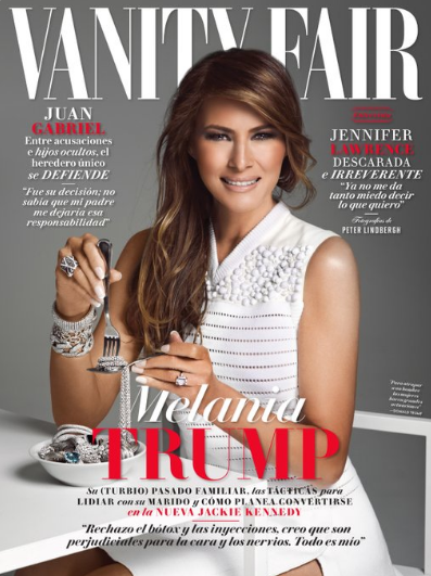 Melania Trump Appears on Vanity Fair Mexico!, border wall, model