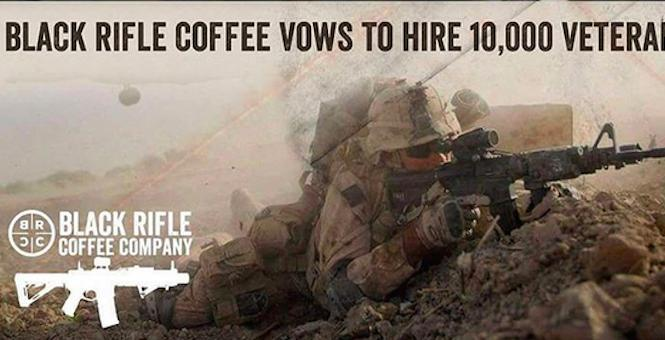 Black Rifle Coffee Takes on Starbucks, hire 10000 veterans