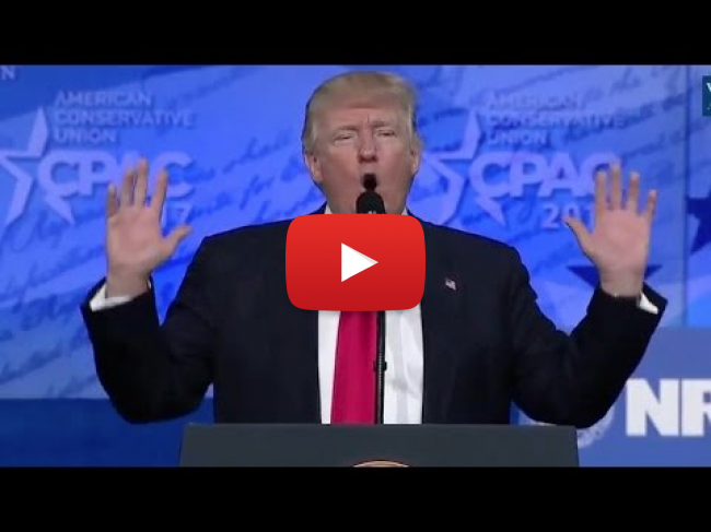 "During Trump Speech at CPAC Crowd Chants ""Lock Her Up!"" - VIDEO"