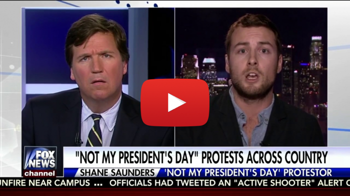 Gay Anti-Trump Protester, Tucker Carlson
