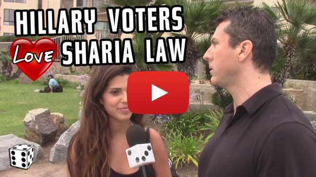 Hillary Supporters Endorse Sharia Law - VIDEO, Best of Mark Dice, Snowflakes