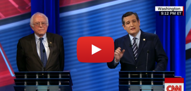 Ted Cruz and Bernie Sanders Obamacare Debate in 90 Seconds, affordable care act, cnn, medicare