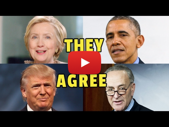Top Democrats Agree with Trump's Immigration Policies, President Barack Obama, Chuck Schumer, Hillary Clinton, President Trump
