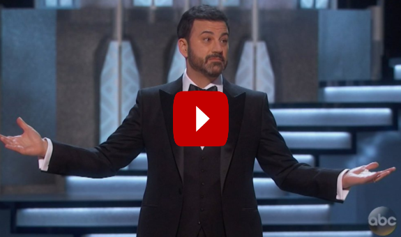 Trump is Racist Joke, Oscars, Jimmy Kimmel