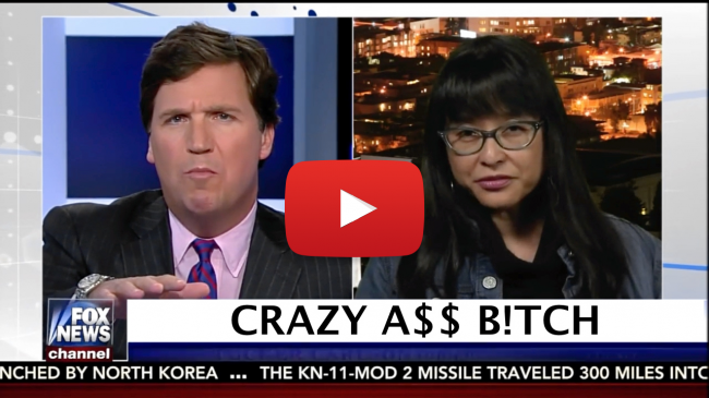 Tucker Carlson debates, Organizer of the Berkeley Riots, Yvette Felarca, By Any Means Necessary, BAM