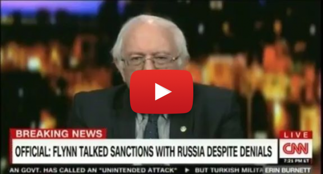 CNN Cuts off Bernie Sanders After He Called CNN Fake News, General Flynn