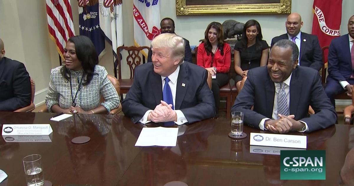 President Trump Honoring Black History Month at the White House, african american listening session