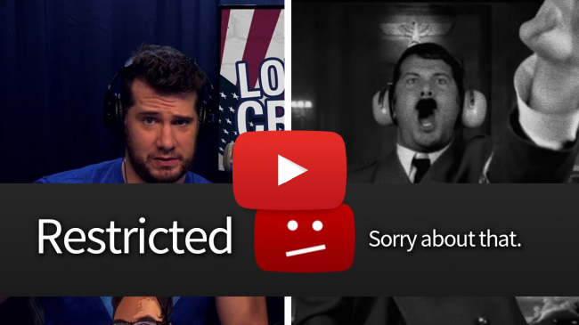 YouTube is Restricting Conservative Videos, Steven Crowder, Louder with Crowder, Restricted Mode