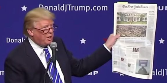 President Trump Humiliates NY Times - Fake News!, New York Times Fake News