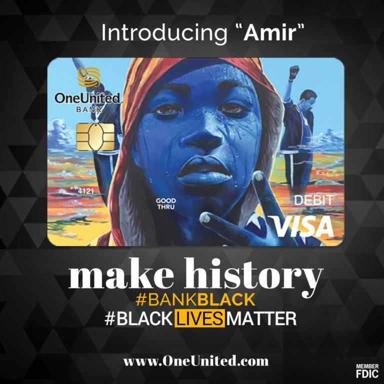 black lives matter debit card , oneunitedbank