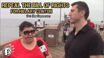 Hillary Supporters Want Her to Repeal the Bill of Rights, Mark Dice, Stupid California Liberals