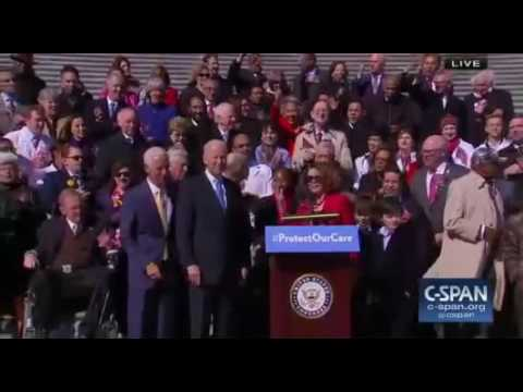 Nancy Pelosi Tries to Lead an Obamacare Chant