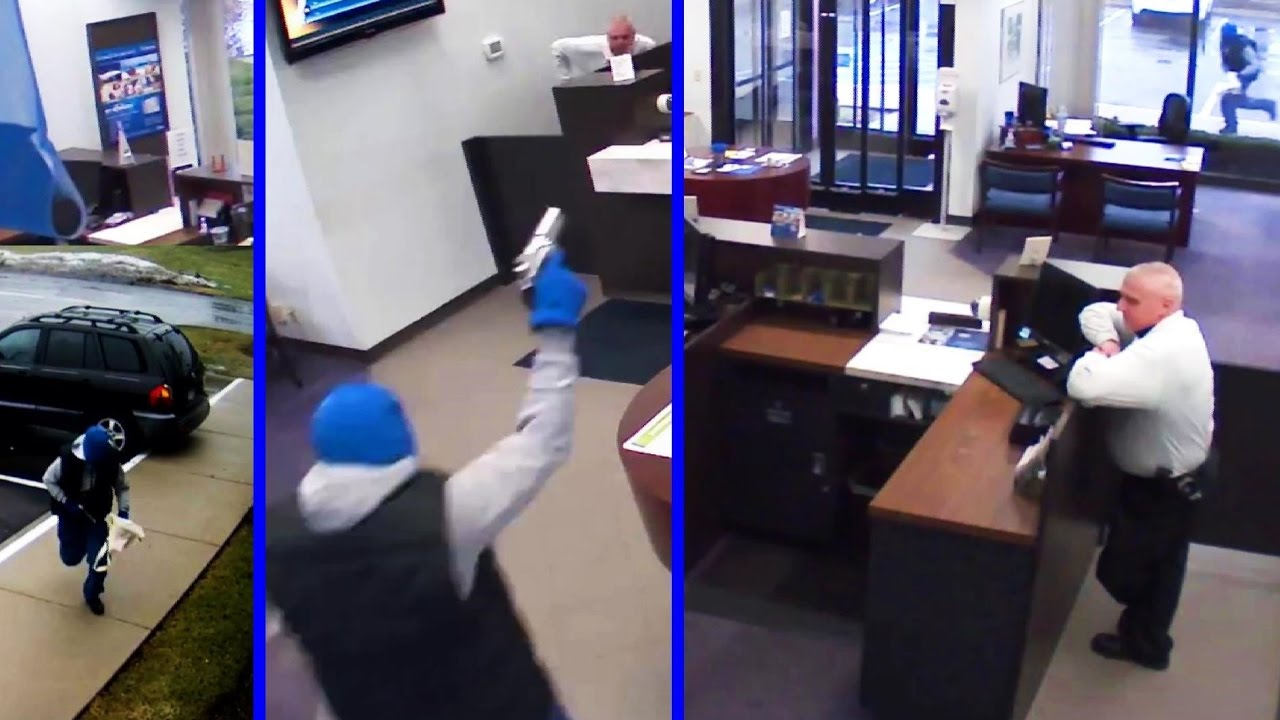 Thug Tries to Rob the Bank and Gets Shot Dead