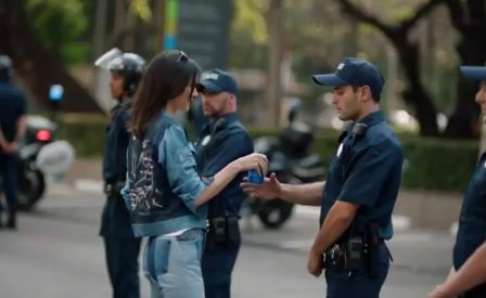 Pepsi ad, Kendall Jenner, Far left protesters, cops