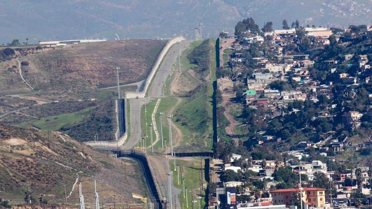 Trump's Border Wall, San Diego, 30 feet high
