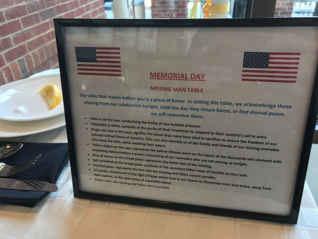 Chick-fil-A Memorial Day tribute