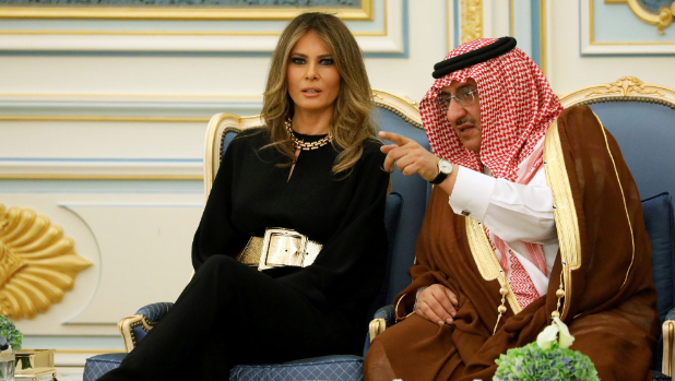 Melania a big hit, saudi arabia