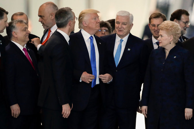 President Trump Pushes the Leader of Montenegro
