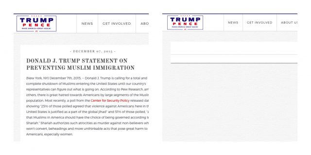 Trump Removes Huge Campaign Promise From His Website