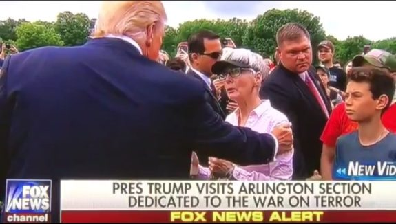 President Trump Makes Surprise Visit to Fallen Marine's Mother